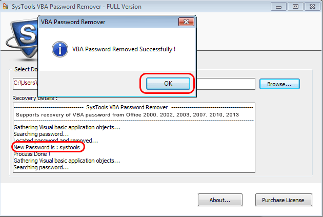 VBA Password Recovery Software